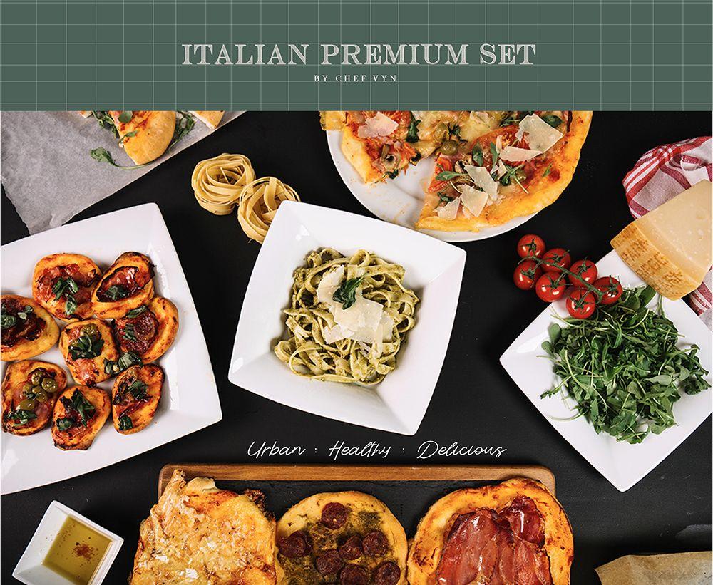 """Italian Premium Set"" เซ็ทอาหารอิตาเลี่ยนแสนอร่อยและพกพาง่าย"